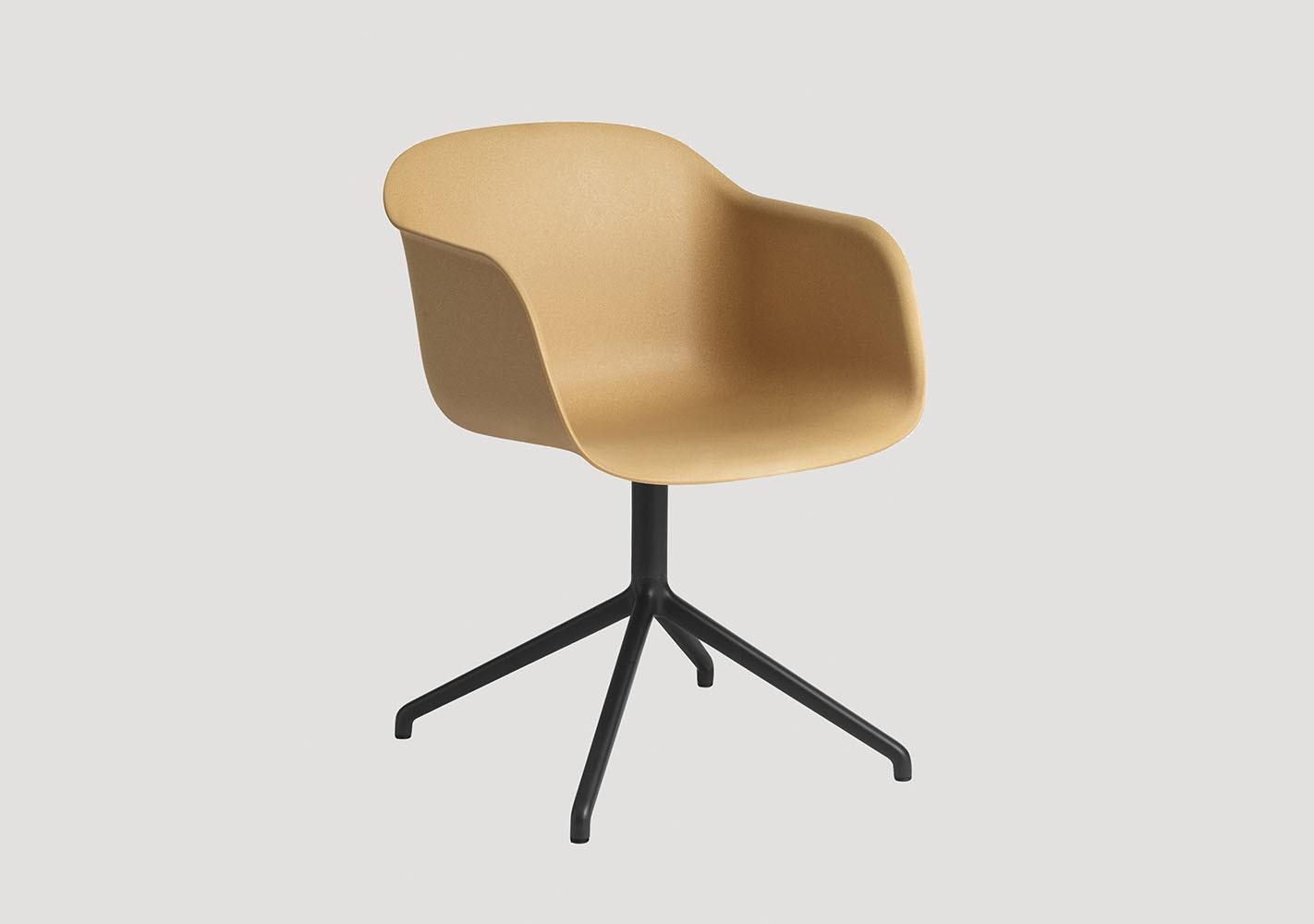 Fauteuil Fiber Chair - Piètement pivotant - MUUTO