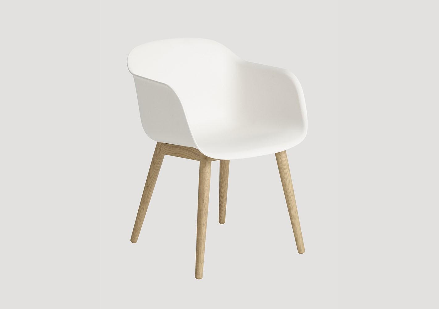 Fauteuil Fiber Chair - Piètement bois - MUUTO