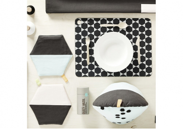 Lot de 2 Sets de table Dark Grey - OYOY