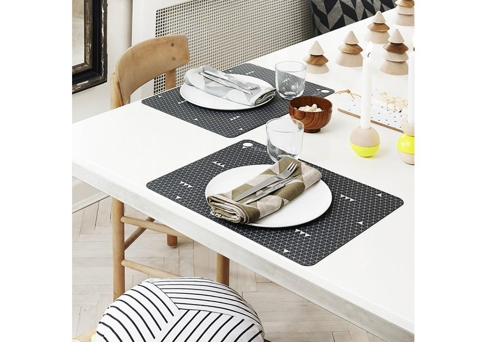 Lot de 2 Sets de table Dark Grey - OYOY