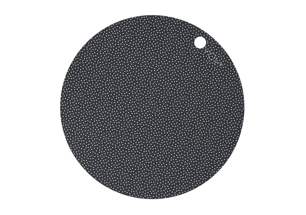 Lot de deux Sets de table ronds Dark grey - OYOY