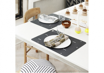 Lot de 2 Sets de table - Grey Line - OYOY