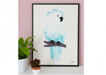 Affiche Perroquet turquoise - MICHELLE CARLSLUND