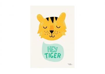 Affiche A4 - Hey Tiger ! - MICHELLE CARLSLUND