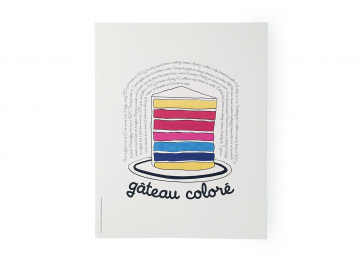 Poster Gateau coloré - SUPEREDITIONS