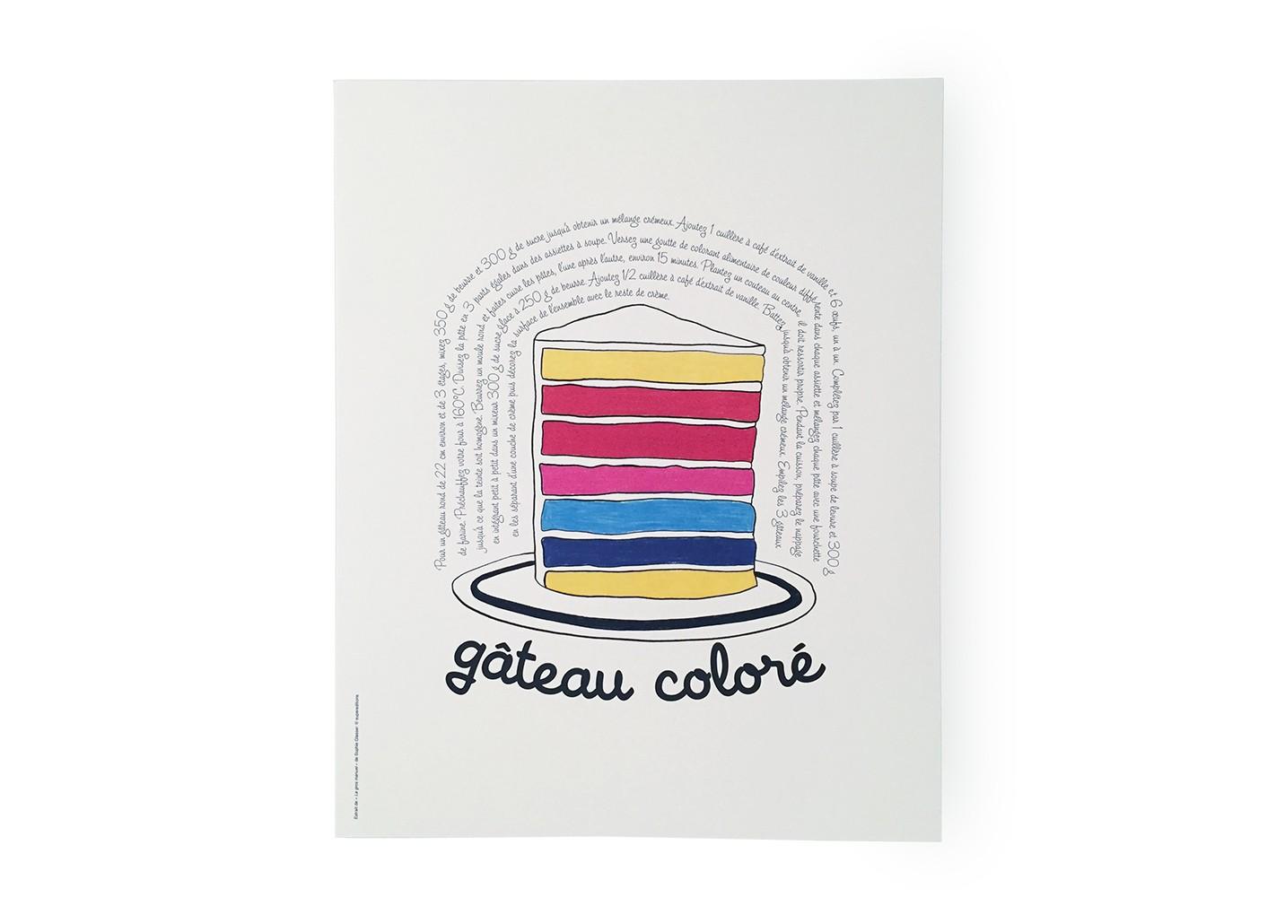 Poster Gateau coloré - SUPEREDITIONS