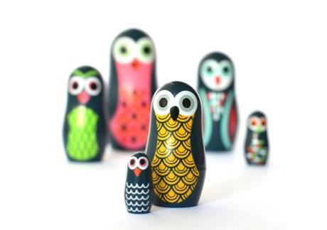 Mini poupées russes Owl - OMM DESIGN