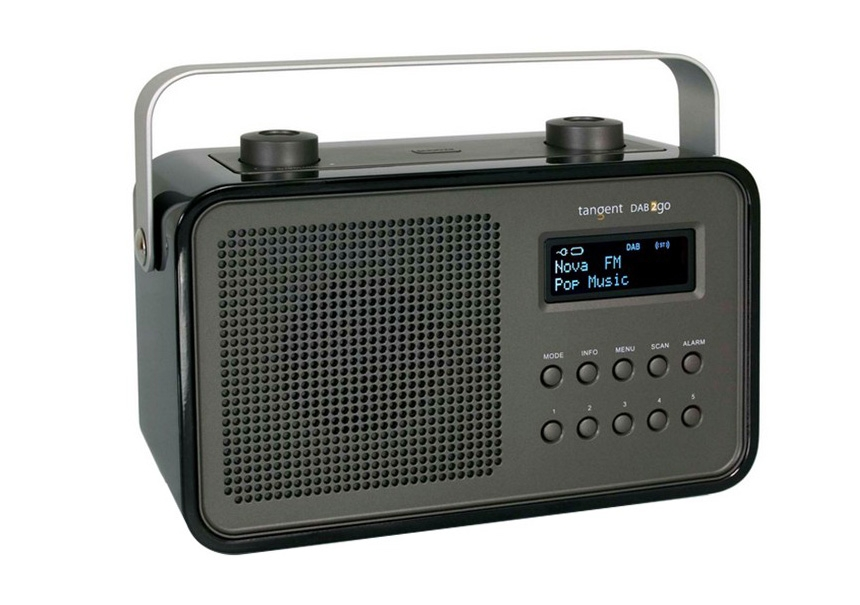 Radio-réveil rouge - TANGENT