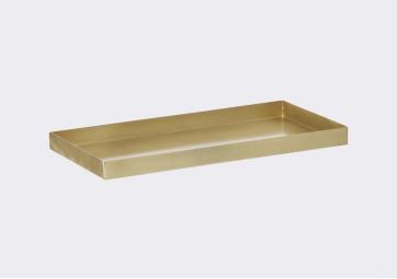 Plateau rectangulaire laiton Ferm Living