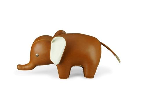 Serre Livres Elephant Marron - ZUNY