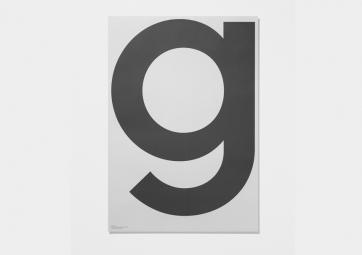 Poster G - Grey - PLAYTYPE
