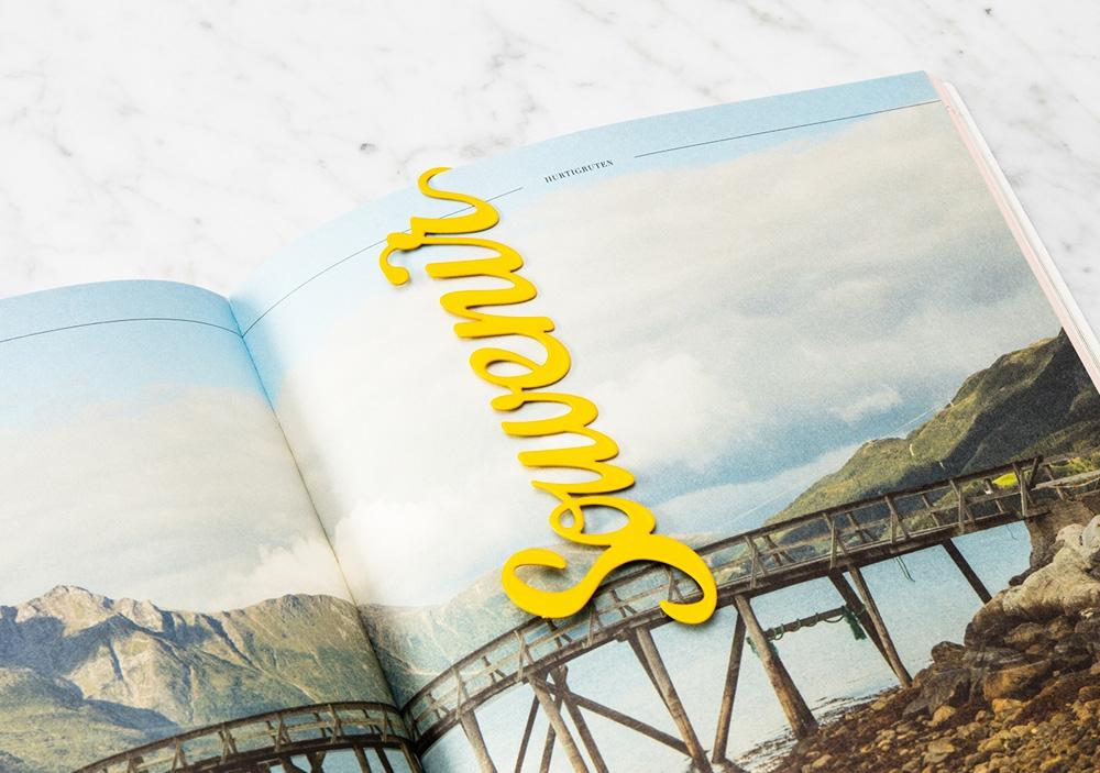 "Marque pages ""souvenir"" jaune - OCTAEVO"
