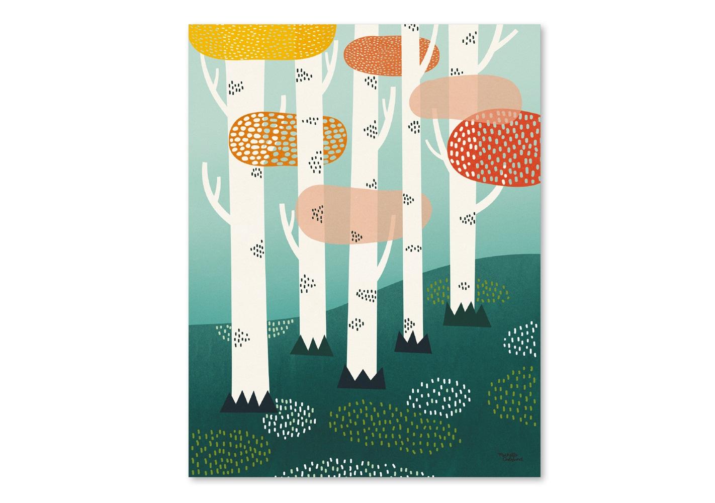 Affiche Forest - MICHELLE CARLSLUND