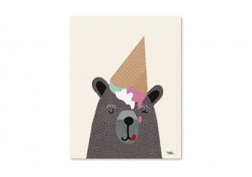 Affiche I love ice cream - MICHELLE CARLSLUND