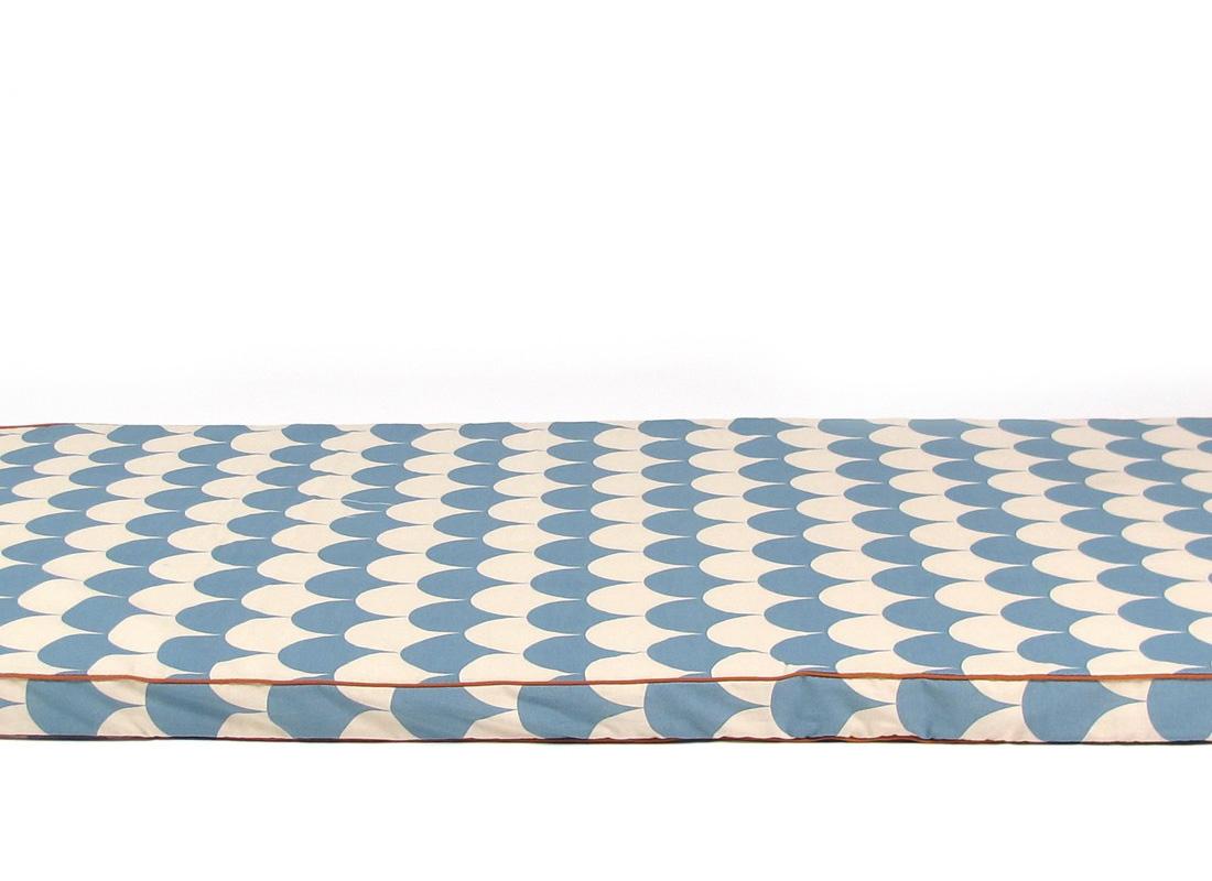 Matelas saint tropez - Blue scales - NOBODINOZ