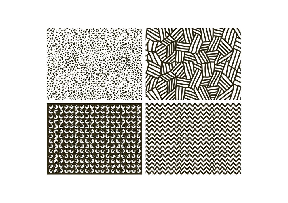 Sets de table à colorier - Grafik 01- OMY