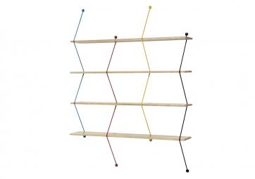 Etagère Climb 120cm hêtre/couleurs - LA CHANCE