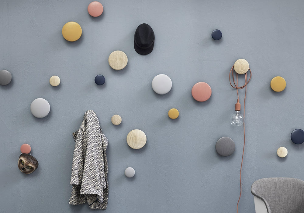 Patère Dots Moutarde - MUUTO