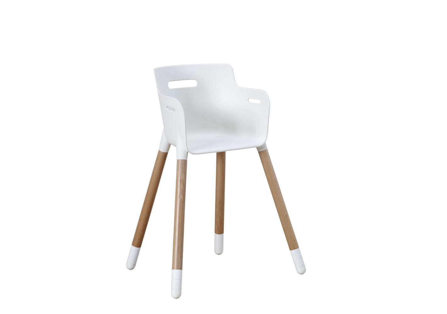 Chaise enfant assise blanche/pieds hêtre FLEXA