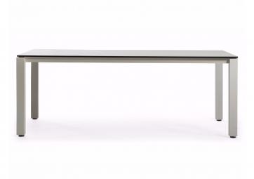Table Machar top en HPL piétement et pieds en aluminium - OASIQ
