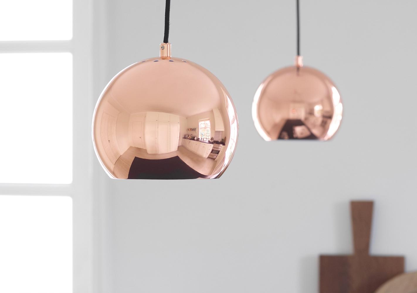 Suspension Ball cuivre 18cm - FRANDSEN