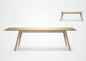 Table Aise Extensible - Pieds bois - TREKU