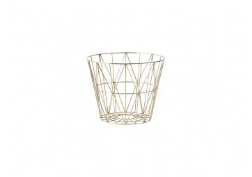 Corbeille Wire laiton small - FERM LIVING