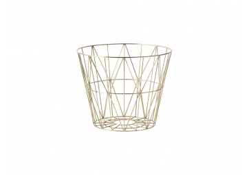 Corbeille Wire laiton large - FERM LIVING
