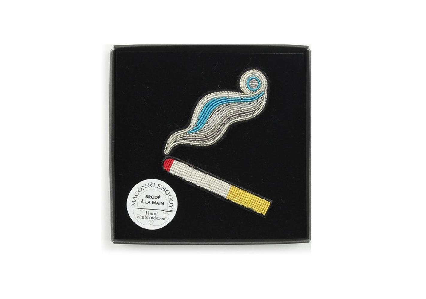 """Broche """"cigarette fumante """" - MACON & LESQUOY"""