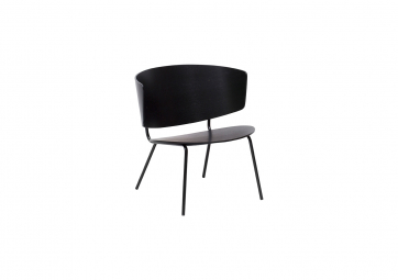 Chaise Herman Lounge noire - FERM LIVING