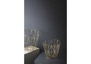 Corbeille Wire laiton medium - FERM LIVING