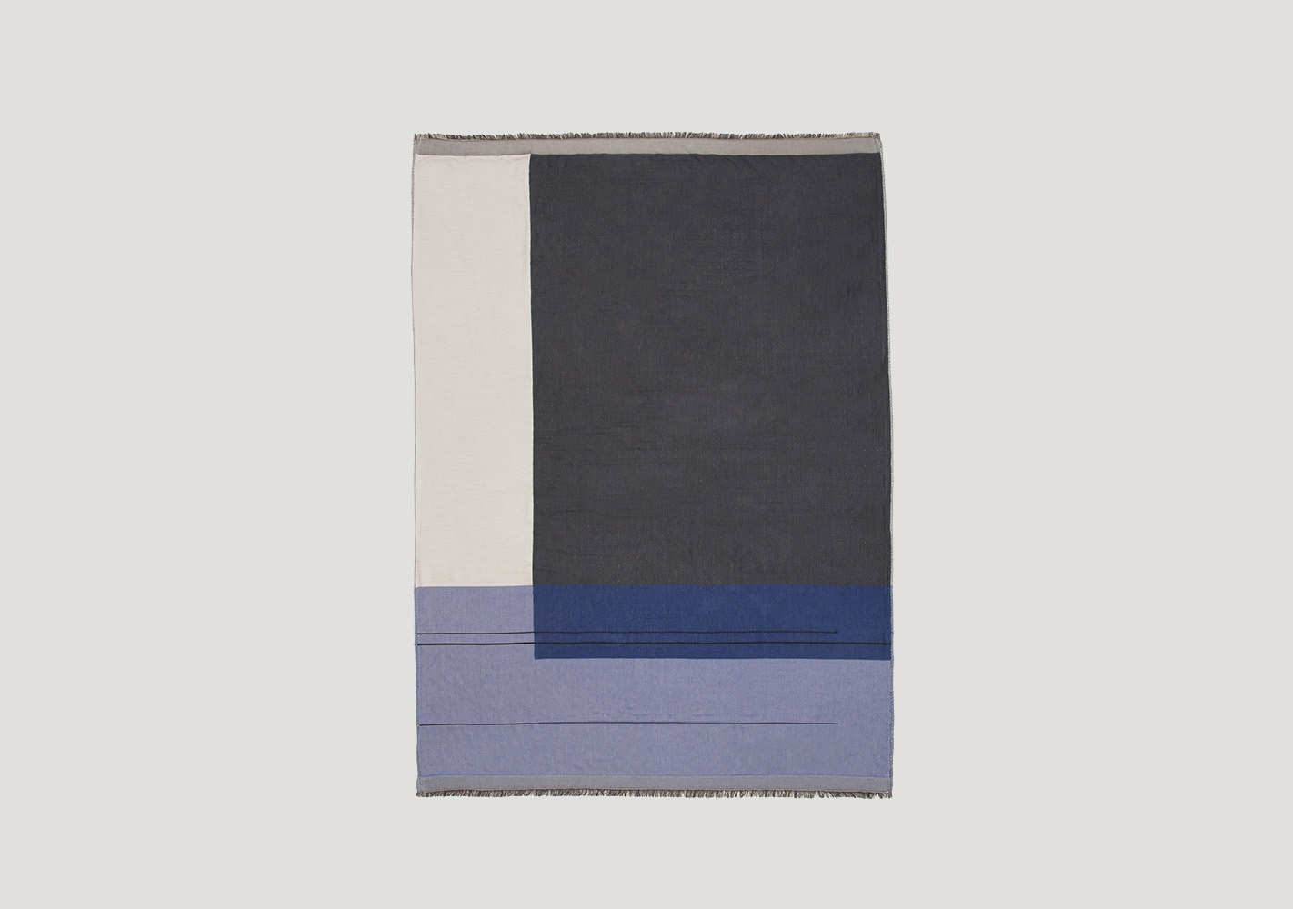 Plaid Colour Block bleu - FERM LIVING