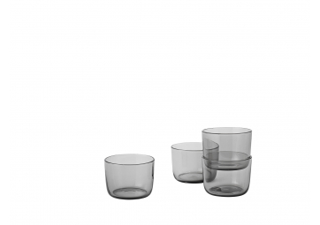 Lot de 4 verres Corky gris low - MUUTO