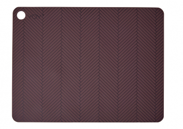 Lot de 2 sets de table bordeaux - OYOY