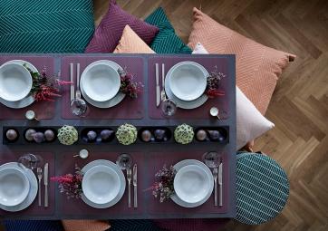 Lot de 2 Sets de table bordeaux - OYOY