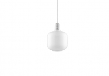 Suspension Amp Lamp small white/white - NORMANN COPENHAGEN