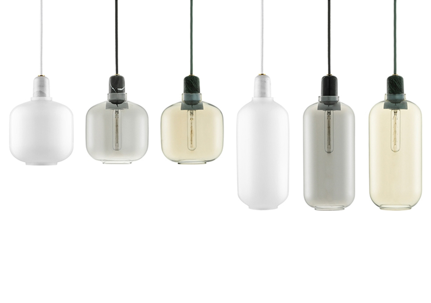 Suspension Amp Lamp large white/white - NORMANN COPENHAGEN