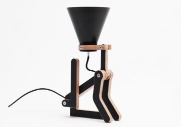 Lampe Waaf noire/noire STRUCTURES