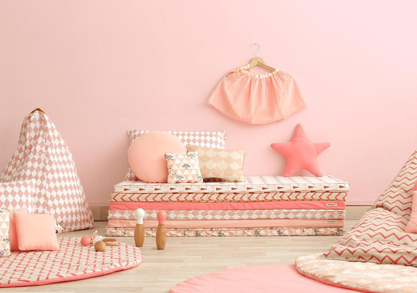 Pouf Marrakech - pink scales - NOBODINOZ
