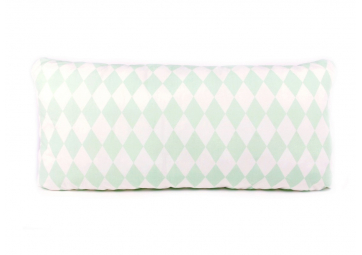 Coussin Averell - 24x52 - green diamonds - NOBODINOZ
