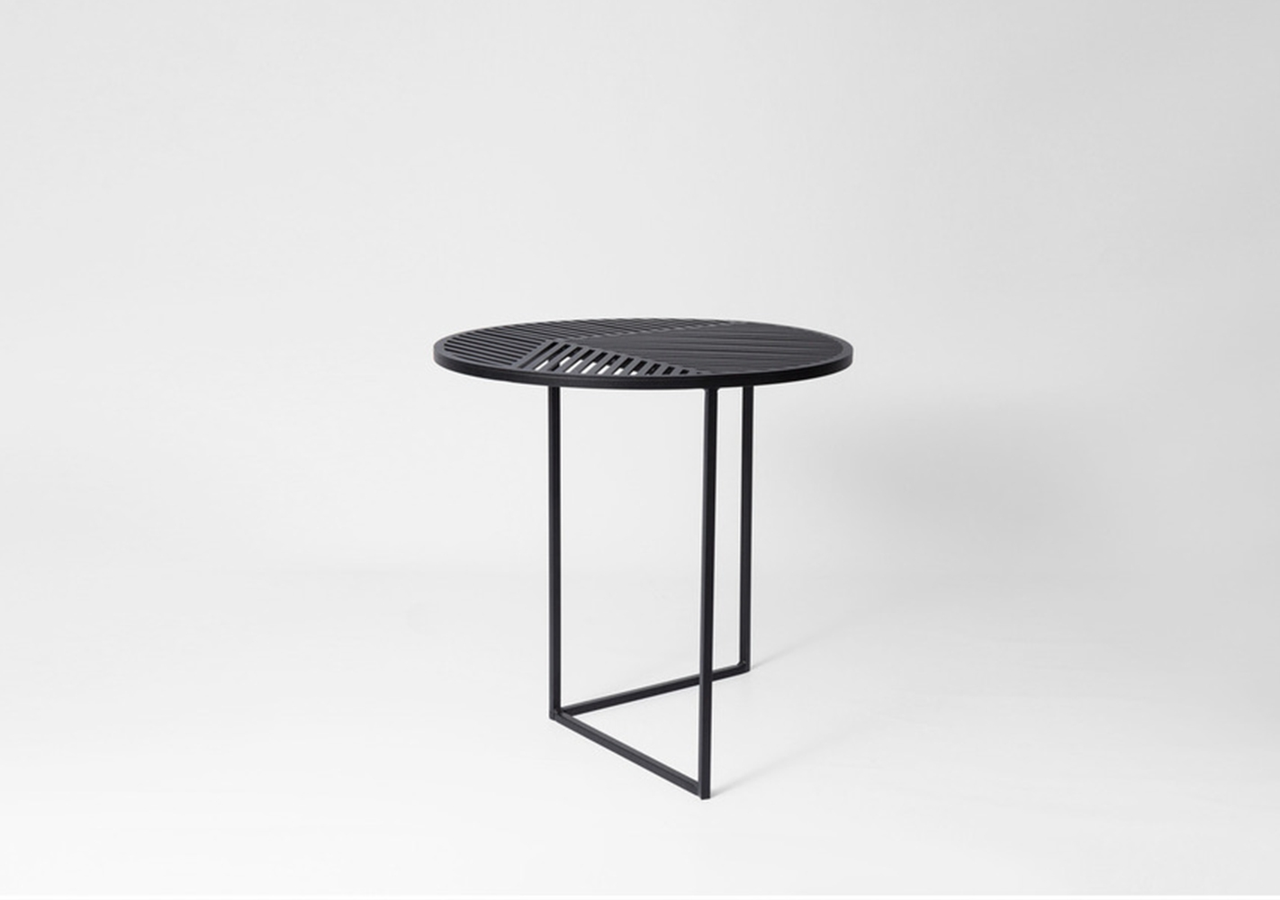 Table d'appoint outdoor ISO-A noire - PETITE FRITURE