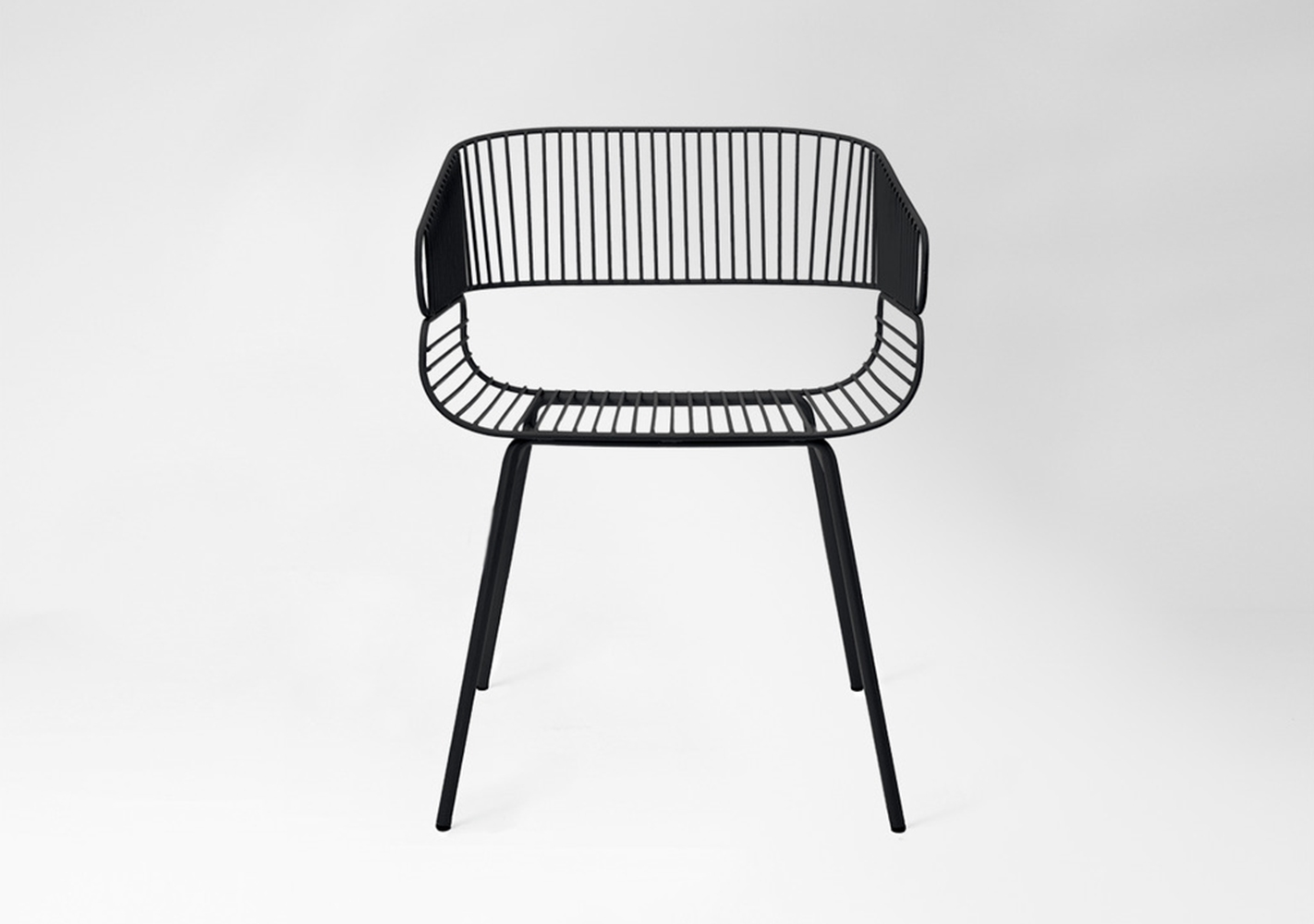 Chaise Trame outdoor noir - PETITE FRITURE