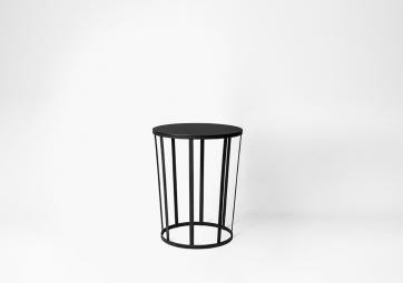 Tabouret Hollo noir - PETITE FRITURE