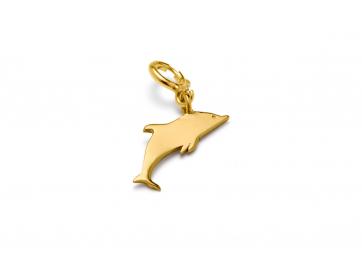 "Pendentif ""Hang on"" dauphin plaqué or - LOUISE KRAGH"