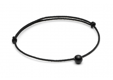 """Bracelet """"Minipearl"""" cordon noir perle noire - LOUISE KRAGH"""