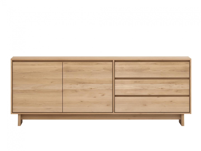 Buffet Wave - 1 porte 3 tiroirs - chêne ETHNICRAFT