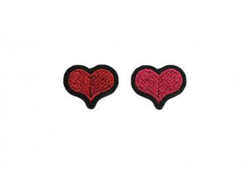 Ecussons Coeurs rouge + rose - MACON & LESQUOY