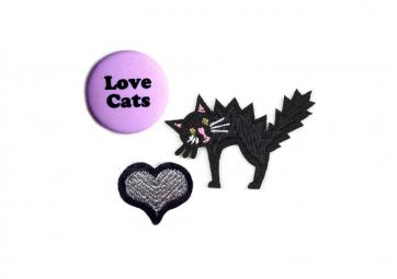"""Ecusson et badge """"Love Cat """" - MACON & LESQUOY"""