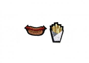 "Ecussons ""Hotdog Frites"" - MACON & LESQUOY"