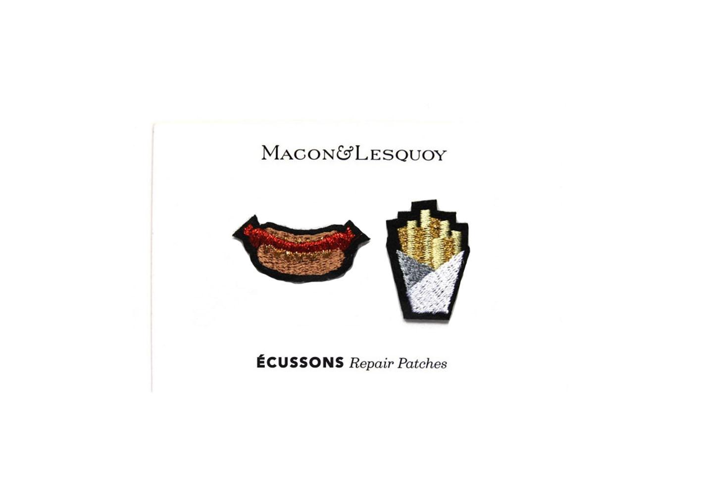 "2 écussons "" Hotdog frites "" - MACON & LESQUOY"